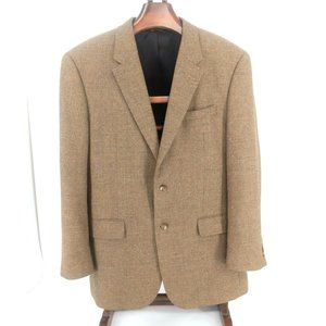 Jos A Bank Sport Coat Mens 44L Brown Travelers